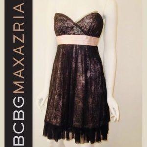Victorian Style Lace Overlay Dress BCBGMax Azria